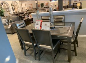 Dining set $999 no credit needed $54 down delivers for Sale in Tukwila, WA