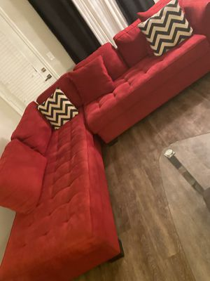 Red sectional couch for Sale in Cary, NC