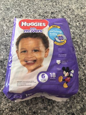 Huggies little movers diapers size 6 for Sale in Newport Beach, CA