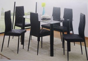 Table and 6 chairs new in the box and free delivery for Sale in Hialeah, FL