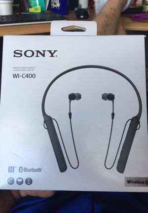 Sony wireless Bluetooth headphones earbuds neckband for Sale in Swansea, MA