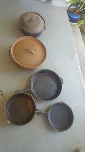 Cast iron dutch ovens & Pans! USA for Sale in Glendora, CA