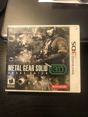 METAL GEAR SOLID 3D- Nintendo 3DS for Sale in Queens, NY