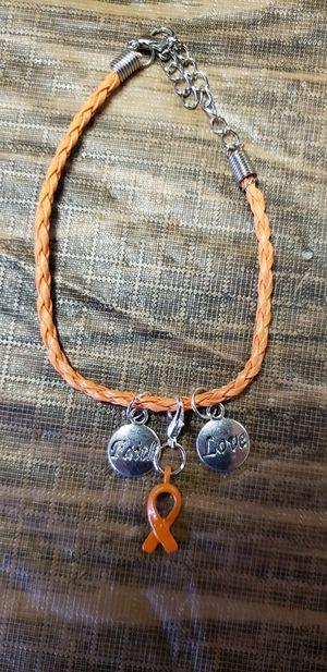 Orange awareness bracelet for Sale in Farmville, VA