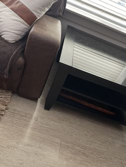 Coffee Table Black Wood Granite Heavy for Sale in Columbus,  OH