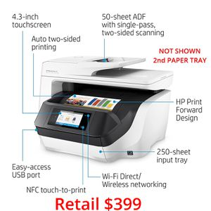 Like New HP OfficeJet Pro 8740 Professional Printer Scanner Copier Fax for Sale in Greenbelt, MD