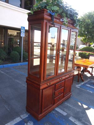 Beautiful cherrywood hutch for Sale in Fontana, CA