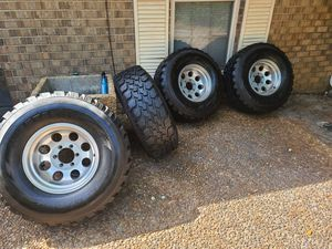 Chevy rims and tires 315/75/16 for Sale in Pensacola, FL