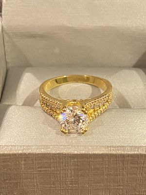 18K Gold plated Solitaire Promise/Engagement Ring- Code ISF10 for Sale in Dallas, TX