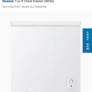 Hisense Freezer New $125 Good Working Conditions for Sale in Wheat Ridge, CO