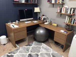 Wood Corner Desk for Sale in Denver, CO