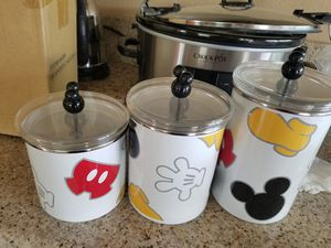 mickey mouse canister set of 3 for Sale in Pico Rivera, CA
