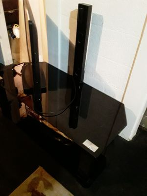 Glass TV stand for Sale in Lafayette, IN