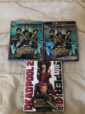 Black panther and Deadpool 2 movie discs for Sale in Pittsburg, CA