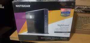 Netgear Wi-Fi cable modem router for Sale in Waterbury, CT