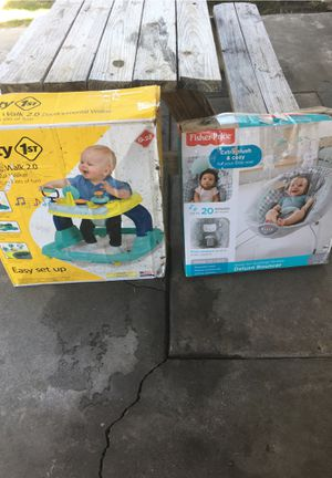 I have a baby swing and a walker for Sale in Garden Grove, CA