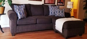 Dark Brown Sectional Sofa in Good Condition. Chaise Can Be Moved to Either Side for Sale in Winter Park, FL