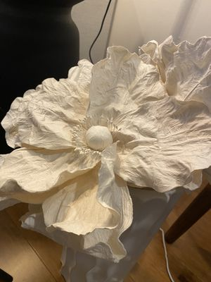 Beautiful Paper flowers in white vase for Sale in Dallas, TX
