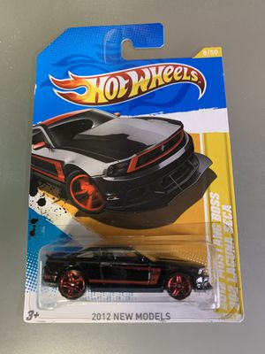 Hot Wheels 1:64 2012 Mustang Boss 302 Laguna Seca 2012 New Models 8/247 black for Sale in North Bergen, NJ