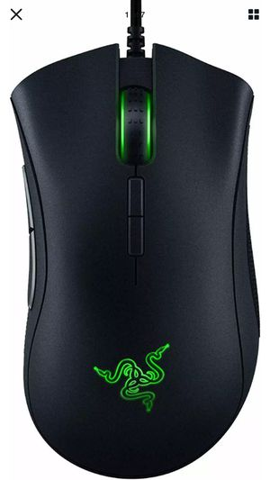 Razer DeathAdder Elite Wired Gaming Mouse - 16,000 DPI Optical Sensor - Black for Sale in West Dundee, IL