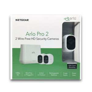 Arlo Pro 2 Wireless Home Security Camera System w/ Siren 2-Camera Kit VMS4230P for Sale in Jessup, MD