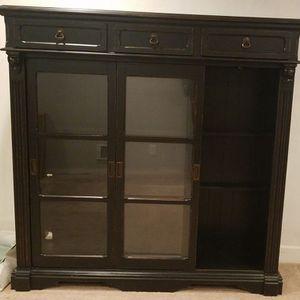 Lighted Glass Door Hutch/Display Case/Cabinet/Book Shelf for Sale in Edmonds, WA