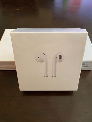 Airpods gen 2 with wireless charging case, earphones, earbuds (NEW IN SEALED BOX) pop up animation iOS, smart sensor, rename & gps location for Sale in Lewisville, TX