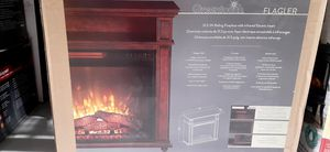 Green touch 31.5 In W Mahogany Infrared Quartz Electric Fireplace (Brand New) for Sale in Edgewood, WA
