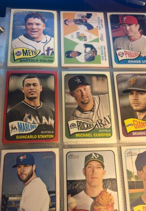 Baseball cards. Topps and bowman. 408 cards. Cards from 2000-2015 for Sale in Fontana, CA