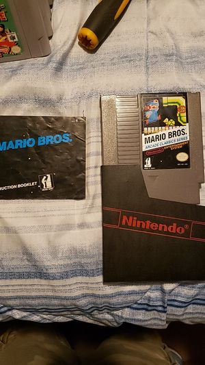 Nintendo nes mario bros arcade classic series with manual for Sale in Seattle, WA