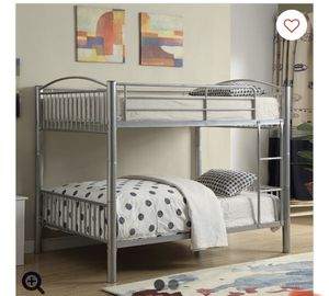 ACME Cayelynn Full over Full Bunk Bed in Silver for Sale in Richmond, CA