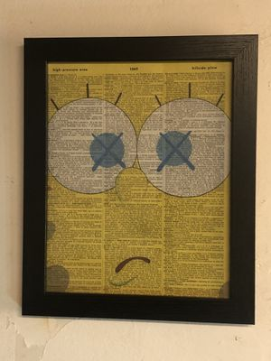 Kaws sponge bob , dictionary page wall art for Sale in Queens, NY