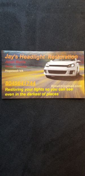 Jay's Headlight Restorations for Sale in Hopewell, VA