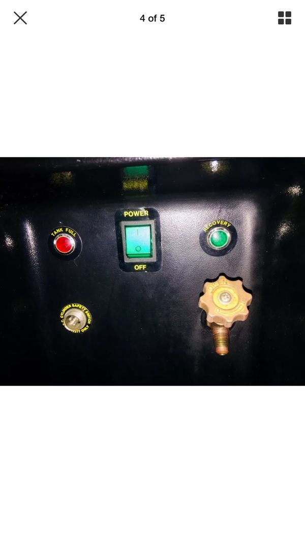 Refrigerator Recovery System Freon