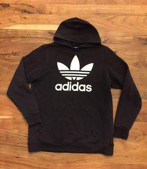 Adidas Youth kids Black white trefoil hoodie sweatshirt XL for Sale in Vancouver, WA