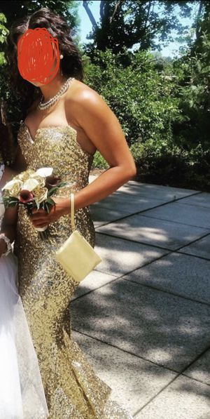 Gold prom dress for Sale in Oceanside, CA