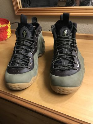 Foamposite size 11.5 olive leather and nunbuck for Sale in St. Louis, MO