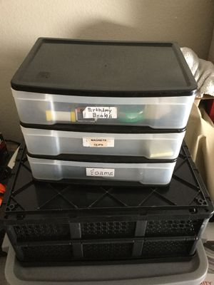 3 Drawer Storage Container for Sale in Fresno, CA