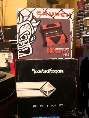Rockford fosgate bass package with crunch amp brand new for Sale in Riverside, CA