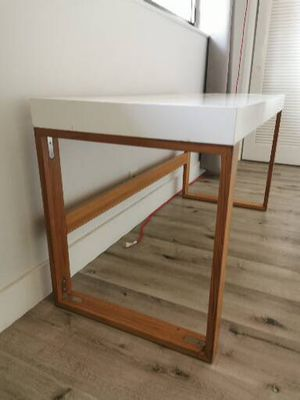 2 contemporary desks wood and white laquer 90$ each or 150 both for Sale in Miami Beach, FL