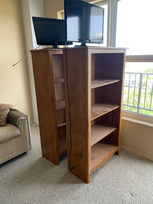"""Two Sturdy Oak Bookshelves 12x36x60"""" for Sale in Hillsboro Beach, FL"""