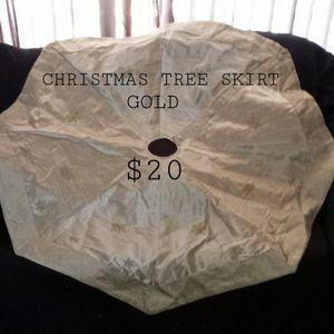 CHRISTMAS TREE SKIRT GOLD for Sale in Phoenix, AZ