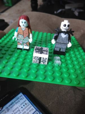 Jack and Sally minifigures lego nightmare before Christmas for Sale in West Hartford, CT