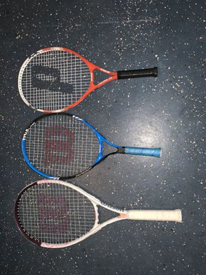 Wilson and prince tennis rackets for Sale in Henderson, NV