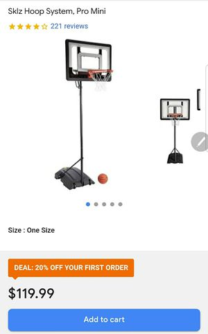 SKLZ PRO MINI HOOP SYSTEM Basketball for Sale in Las Vegas, NV