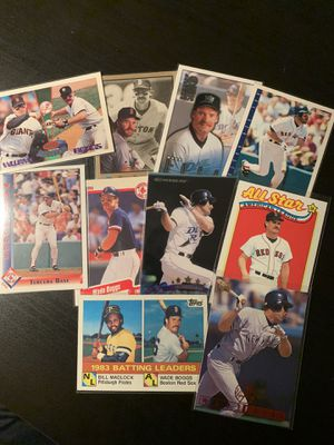 10 Wade Boggs Vintage Baseball Cards for Sale in San Lorenzo, CA