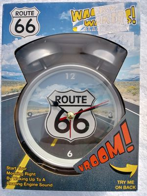 Rt.66 ALARM CLOCK.. Wake to VROOMMM SOUNDS!! NEW in Box for Sale in Washington, PA