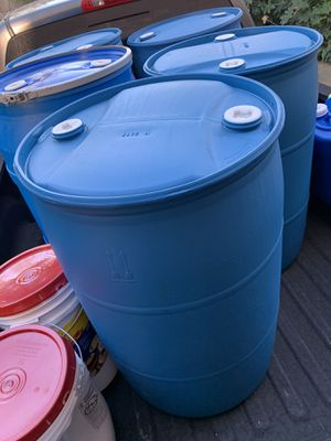 Two 55 gallon water storage containers BPA free for Sale in Chula Vista, CA
