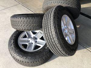 Jeep Gladiator wheels and tires Bridgestone Dueler - 200 miles for Sale in Chula Vista, CA