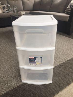 Plastic storage bin - 3 drawers for Sale in Brea, CA